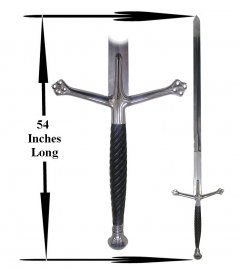 Black Knight #1 Claymore Sword - 52 inch