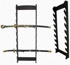 8 Sword Wall Display Rack