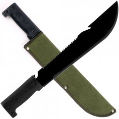 16.5 Inch Serrated Hiking Machete with Pouch