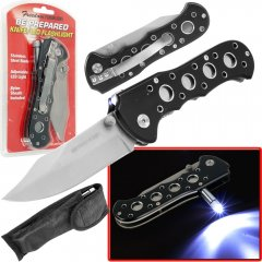 Bright Knife w/ LED Flashlight & Nylon Sheath