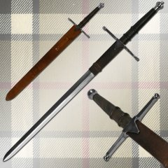 William Wallace Medieval Sword w/ Sheath Silver