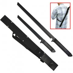 Twin Ninja Set - Two Swords - One Sheath