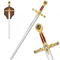 Free Mason Sword with Plaque - Red