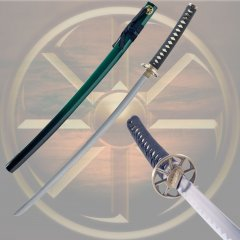 Whetstone™ Two Tone Green & Black Kama Katana - 38 inches
