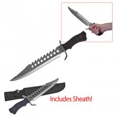 16.5 in. Rubber Handle Bowie Knife