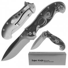 Deluxe Silver Spring Assist Stainless Spider Locking Folder