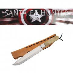Santa Fe Hunter Brass Handle Bowie Knife - 13 inches